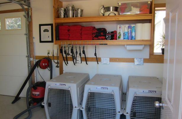 Gallery of garage dog kennel ideas fabulous homes for Dog kennel in garage ideas